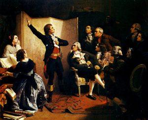 Uraufführung der Marseillaise (Gemälde Isidore Pils)
